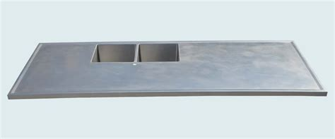 stainless steel countertop edging custom stainless countertop with 2 sinks marine edge by 5716