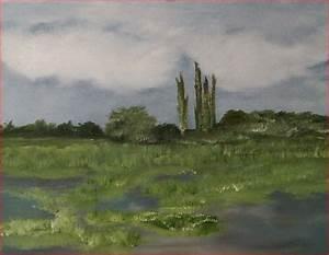Baum Am Wasser : auen lmalerei baum burgund am wasser von le bei kunstnet ~ A.2002-acura-tl-radio.info Haus und Dekorationen