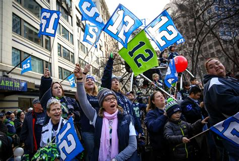 seahawks fans rally  advance  nfc championship game