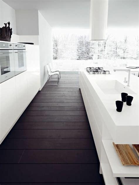 cuisine sol noir le parquet noir en 45 photos