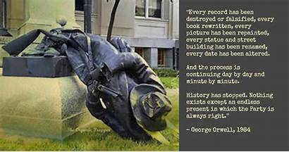 History Orwell Erase Past Learn Quotes George