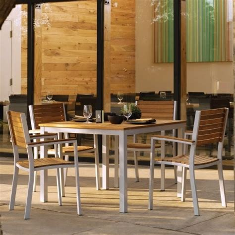 oxford garden travira teak patio dining set seats 4
