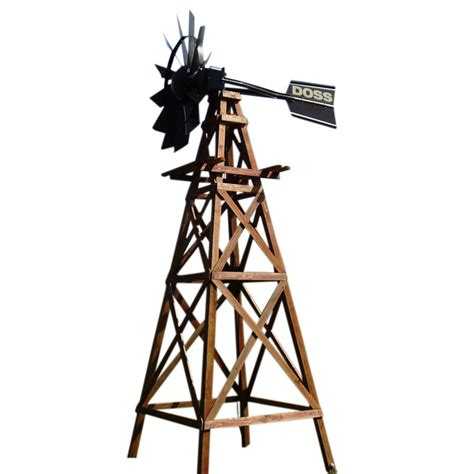 outdoor water solutions wood windmill kit bronze powder
