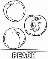 Coloring Peach Fruit Peaches Fruits Printable Topcoloringpages Sheet Plum sketch template