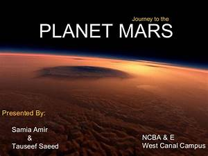 Journey to mars planet ppt
