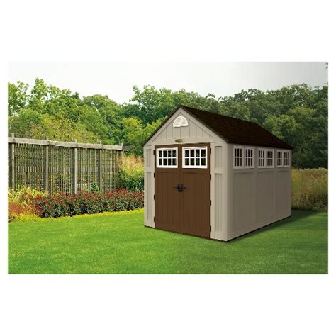suncast garden shed taupe resin storage shed 7 x10 taupe suncast target