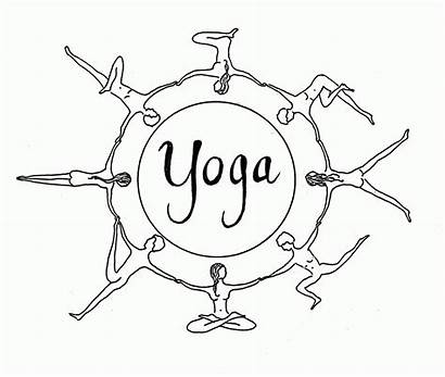 Yoga Coloring Worksheet Poses Mindfulness Printable Mandala