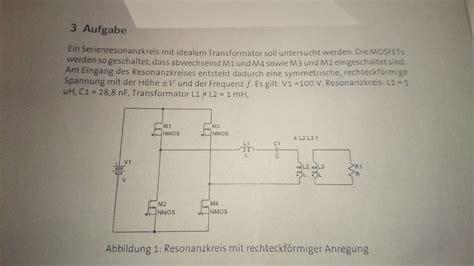 transformator mit rechteckspannung reihenschwingkreis