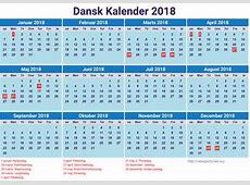 Dansk kalender 2018 med helligdage newspicturesxyz