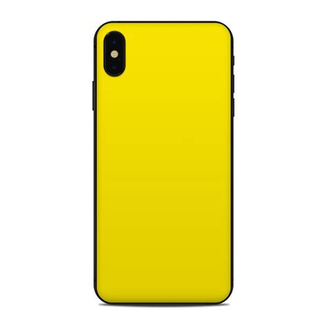 apple iphone xs max skin solid state yellow  solid