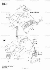 Suzuki Atv 2004 Oem Parts Diagram For Fuel Tank  Model K3