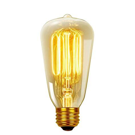 home depot edison lights globe electric 40 watt incandescent s60 e26 vintage edison