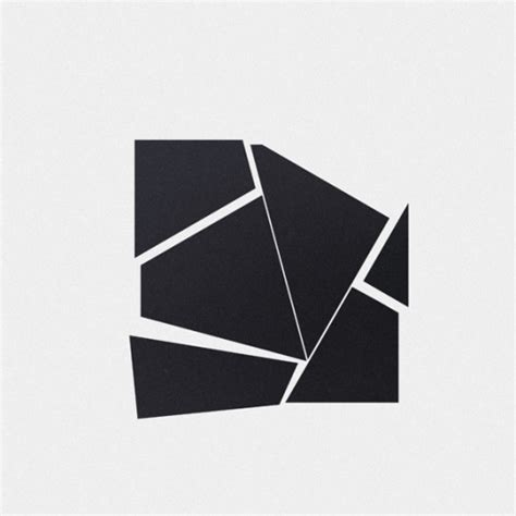 Abstract Minimalist Geometric Shapes by Black And White White Design Black Space Line New Original