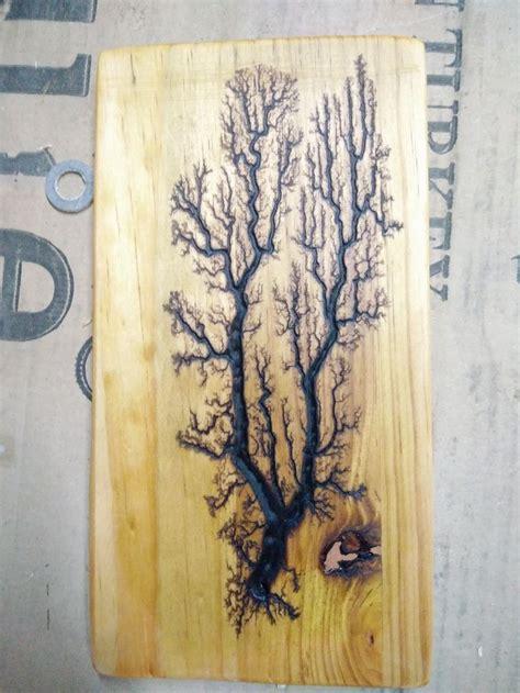 fractal wood burning tree  pine wood art pinterest