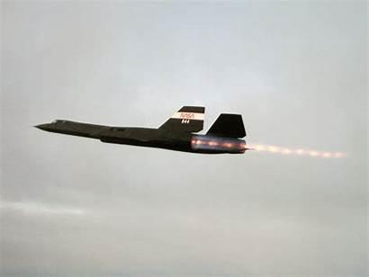 Sr 71 Blackbird Lockheed Aircraft Afterburner Jet