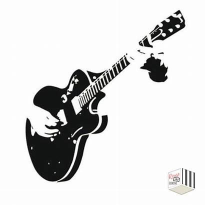 Guitar Wall Sticker Stickers Stencil Vinyl Murals