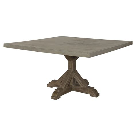 lenore french country trestle square top teak outdoor