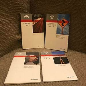 2014 Toyota Camry Owners Manual Set With Navigation Book