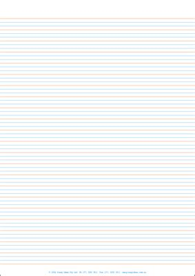 lined paper  full page year  class pack