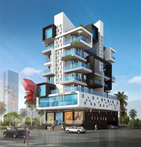 apartment elevation designing  architectural rendering