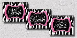 zebra print bathroom ideas pink zebra print wall bathroom decor print wash brush
