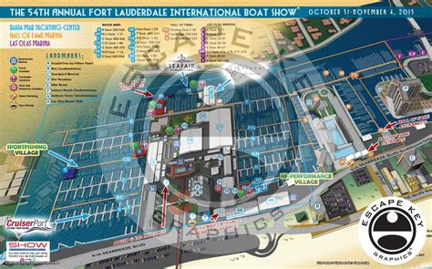 international boat show illustrated maps