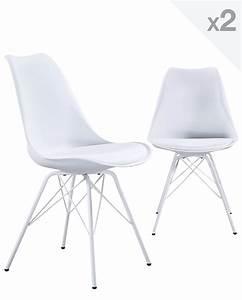 Chaise Design Metal : step chaise design m tal lot de 2 ~ Teatrodelosmanantiales.com Idées de Décoration