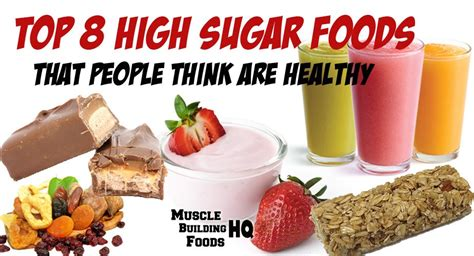 glucose cuisine top 8 high sugar foods that think are healthy