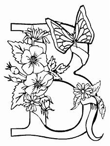 Coloring Pages Of Flowers And Butterflies - AZ Coloring Pages