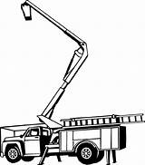 Bucket Truck Tree Clipart Trimming Clip Picker Cherry Decal Construction Coloring Vinyl Equipment Silhouette Pages Heavy Line Decals Crane Boom sketch template