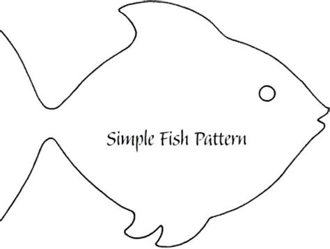 fish shape template simple fish template