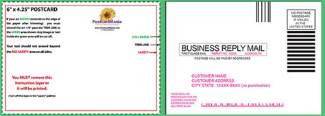 Business Reply Mail Template by Postcard Design And Mailing Free Templates 4 215 6 5 215 7 6