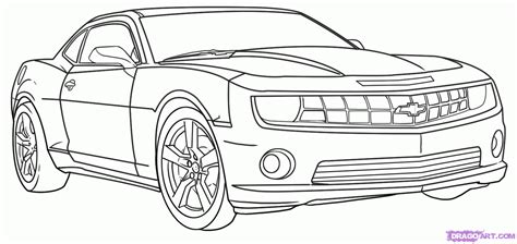 How To Draw A Camaro, Step By Step, Cars, Draw Cars Online