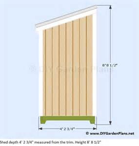 4 215 8 lean to shed plans
