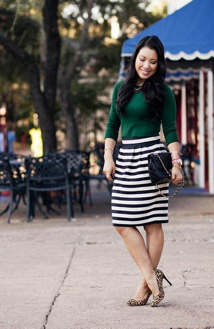 17 Best images about Green top outfits on Pinterest | Navy skirt Leopard pumps and Turquoise top