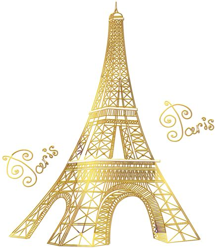 library  torre eiffel gold png transparent library png