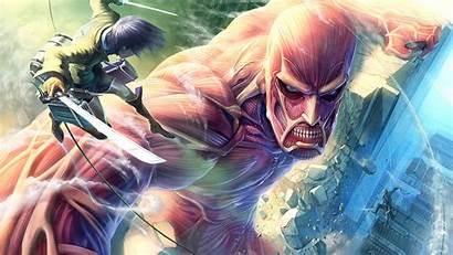 Titan Attack Anime Action Eren Wallpapers Titans