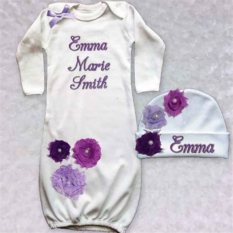 shabby chic baby clothes purple shabby chic baby gown lucky skunks baby toddler clothes