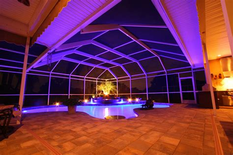 pool enclosure lighting nebula lighting systems home