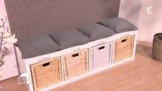 ikea hack mudroom bench 3 kallax shelving units and