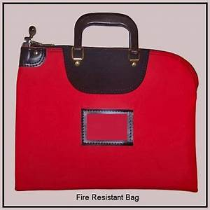fire proof fire resistant locking money document bags With lockable document bag