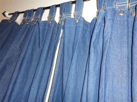 Walmart (pair) Buckles Tab Blue Jean Denim Curtains Panels