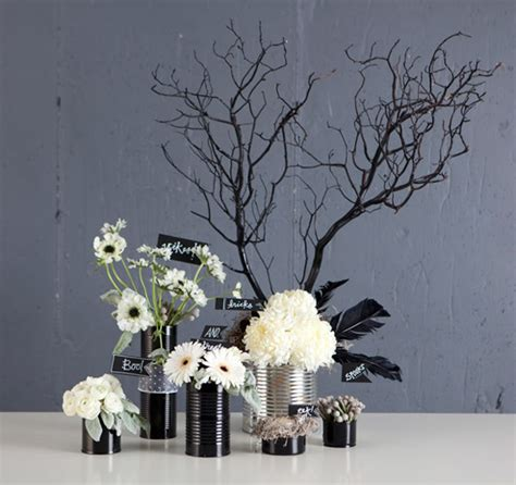 black and white floral centerpieces diy halloween centerpieces a to zebra celebrations