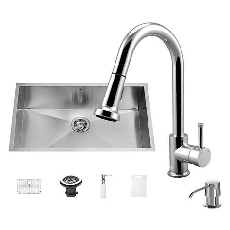 all in one kitchen sink vigo all in one undermount 30 in single basin kitchen sink