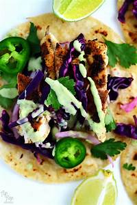 Blackened Fish Tacos with Red Cabbage Slaw • So Damn Delish