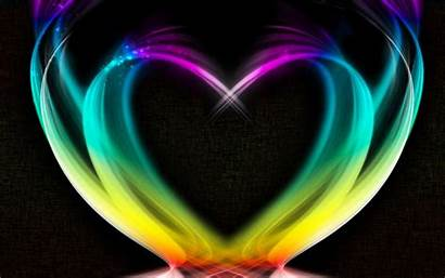Rainbow Heart Background Shape Wallpapers Colored Hearts
