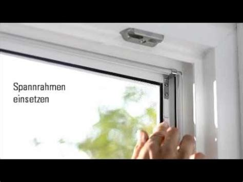 insektenschutz spannrahmen youtube