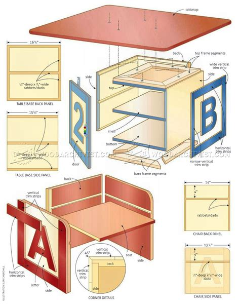 woodworking plans for childrens table and chairs childrens table and chairs plans woodarchivist