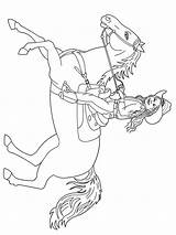 Coloring Cowgirl Pages Horses Printable Recommended sketch template
