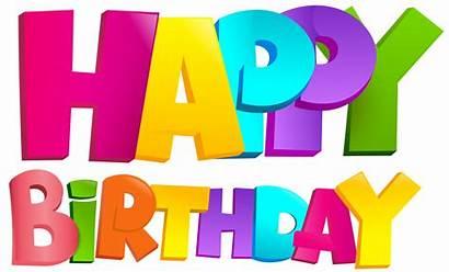 Birthday Happy Transparent Clip Clipart Colorful Anniversaire